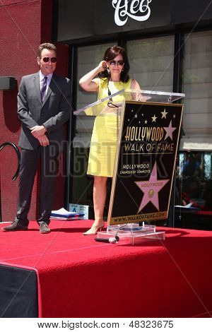 LOS ANGELES - JUL 16:  Bryan Cranston, Jane Kaczmarek at the Hollywood Walk of Fame Star Ceremony for Bryan Cranston at the Redbury Hotel on July 16, 2013 in Los Angeles, CA