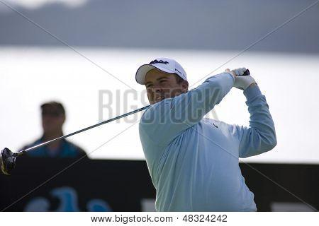 LOCH LOMOND, SCOTLAND - JUL 09 2009; Loch Lomond Scotland; Shane Lowry (IRL) competing in the first round of the PGA European Tour Barclays Scottish Open golf tournament.