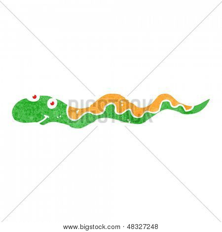 retro cartoon slithering snake