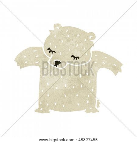 cute retro cartoon polar bear