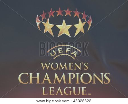 MADRID, SPAIN. 16/05/2010.  Logo for the Women's Champions League final  played in the Coliseum Alfonso Perez, Getafe, Madrid.