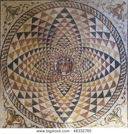 Mosaic In The Museum In Ancient Corinth