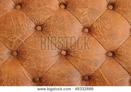 Texture Of Brown Vintage Sofa