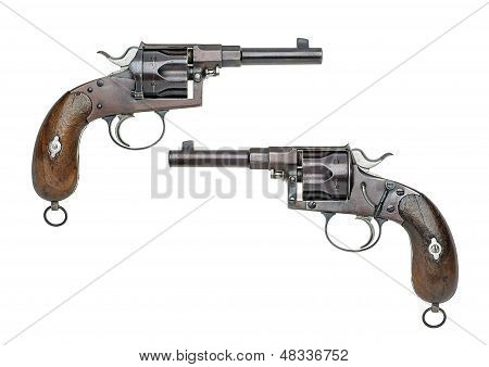Reichsrevolver model 1879/83 on a white background