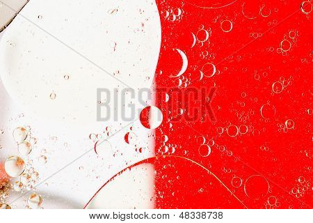 Oil Bubbles Abtract