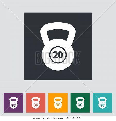 Sport Gewicht einzelnes Symbol.