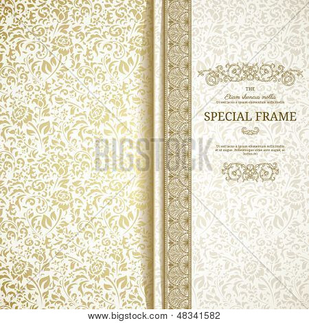 Light vintage background with seamless pattern