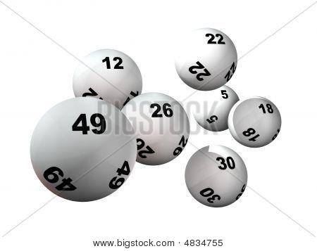 Zeven loterij ballen