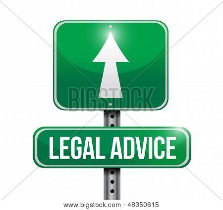 Legal Advice Road Sign Illustration Design