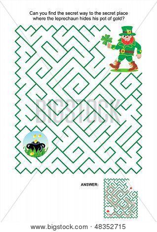 Maze game - leprechaun and pot of gold