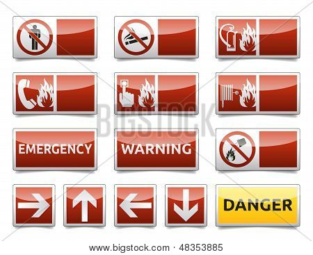 Danger warning sign mini set
