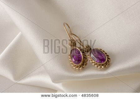 Earrings With Alexandrite