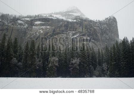 North Dome In Winter