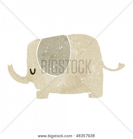 retro cartoon cute elephant