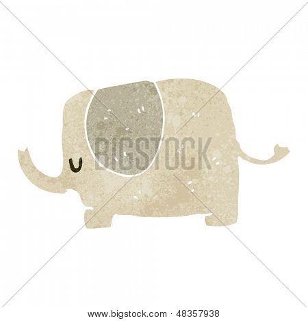 Retro Cartoon niedliche Elefanten