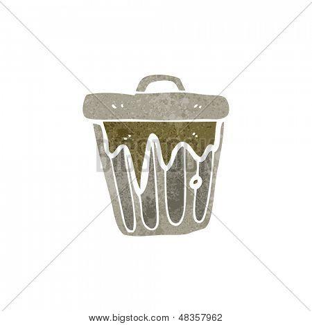 retro cartoon rubbish bin