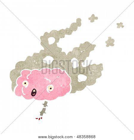 migraine headache retro cartoon