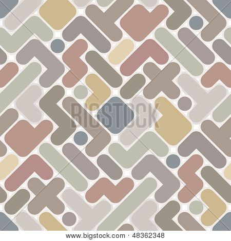 Vector Abstract Pattern - Vintage Seamless Light Color Figured Background