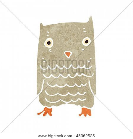 Retro cartoon owl