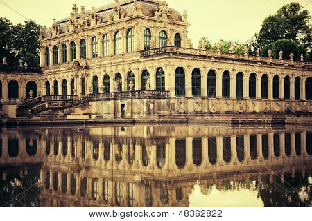 Zwinger palace. It served as the orangery, exhibition gallery and festival arena of the Dresden Court.