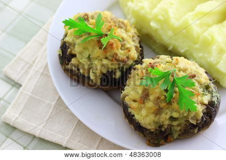 Stuffed Champignon Mushrooms