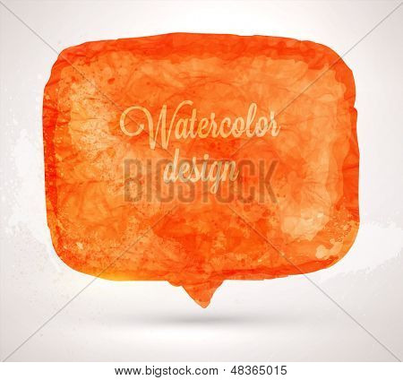 Abstract aquarelle background. Grunge background. Vintage paper texture. Watercolor vector background for retro design. Hand drawn watercolour speech bubble. Abstract vector colorful shapes.