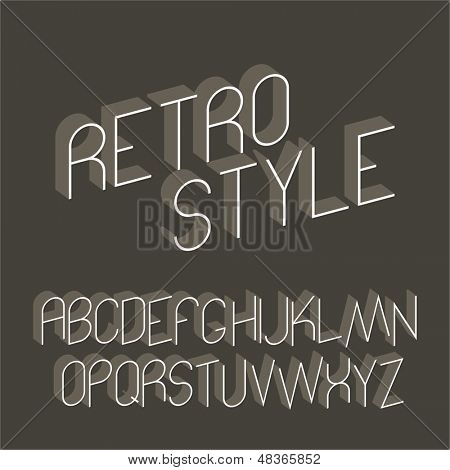 Abstract alphabet - retro style