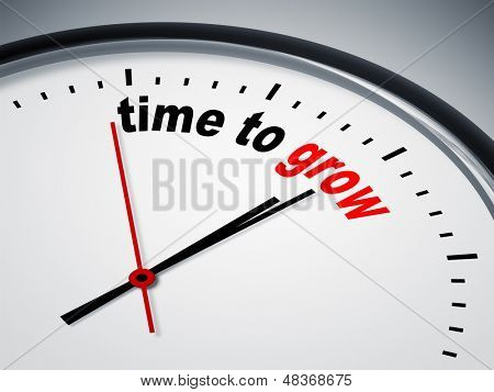 An image of a nice clock with time to grow