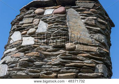 Rustic Stone Chimney