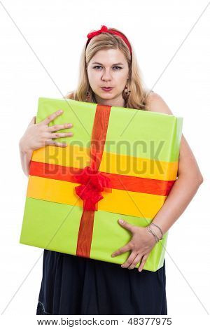 Greedy Woman With Present
