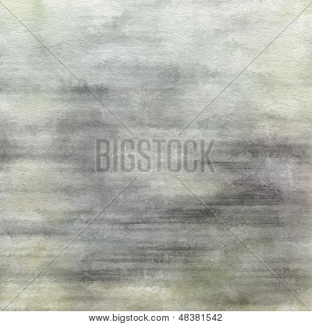 art abstract watercolor background on paper texture in light green, white and grey colors