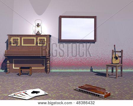 Musikalische Zimmer - 3D Rendern