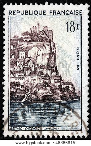 Beynac Castle Stamp