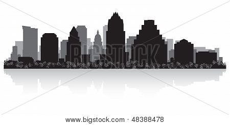 Austin City Skyline Silhouette