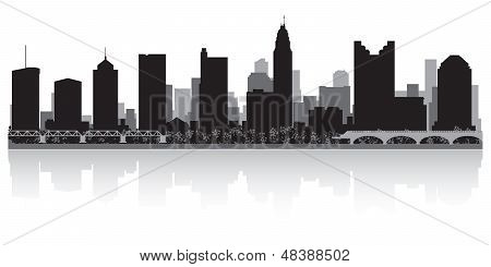 Columbus City Skyline Silhouette