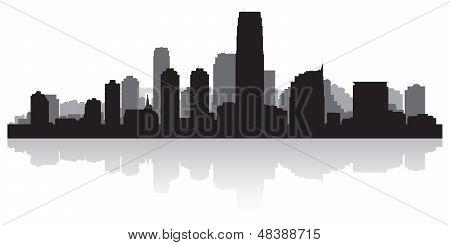 Jersey City Skyline Silhouette