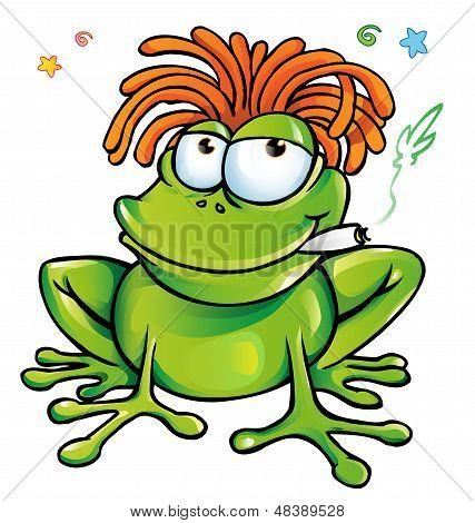 jamaican frog cartoon