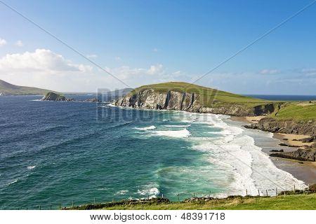 Irish landscape at sunset - dingle peninsula