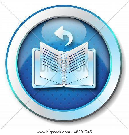 E-book browse back icon