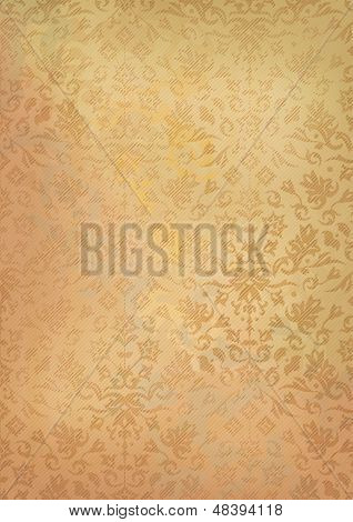 Vintage Grunge Old Paper Background With Pattern