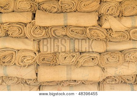 Hemp Sacks In A Row