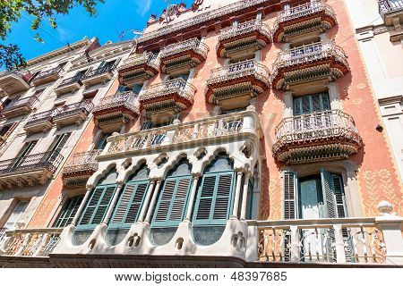 Barcelona, Spain - July 21: Casa Estap�, Formerly Known As Casa Laplana, Is A Modernista House Bui