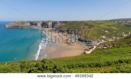 Trebarwith Strand beach Cornwall near Tintagel