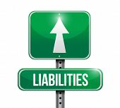 Liabilities Road Sign Illustration Design