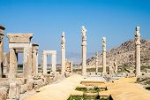 foto of xerxes  - Ruins of ancient Persepolis Iran - JPG