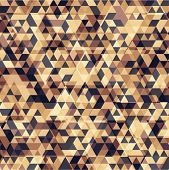 foto of parallelepiped  - Retro triangle geometric pattern for mosaic banner design - JPG