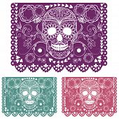 stock photo of sugar skulls  - Day of the dead decoration - JPG