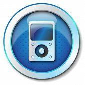 foto of beep  - Illustration metallic icon for web isolated - JPG