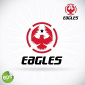 Eagle Symbol Illustration With Sticker