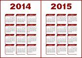 stock photo of calendar 2014  - Calendar for 2014 - JPG